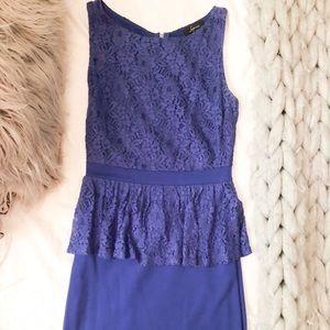 Nordstrom Royal Blue Lace Mini Dress